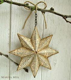 How to Make Paper Mache Stars - via Magia Mia