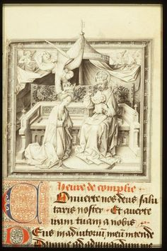 De kroning van Maria. Miniatuur uit het Getijdenboek van Philips van Bourgondië. Den Haag, KB, KW 76 F 2, fol. 150r.