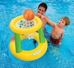 Kids Backyard Teens Floating Intex Basketball Game Hoops Pool Floats Family For Adults Outdoor Swimming Pool Floaty Lounger Party Floatie Swim Rings Backyard Beach Lake Float Toys Hoops >>> More info @ http://www.amazon.com/gp/product/B01HSTPOL0/?tag=cataudiobooks-20&tu=250716061859
