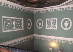 The beautiful interiors of Osterley House by Robert Adam. The colors and neoclassical forms are reminiscent of Wedgwood's jasperware.