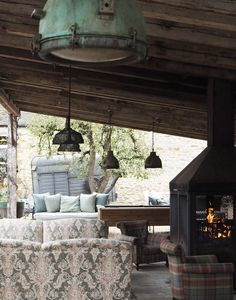 A wonderfully festive stay, the perfect winter getaway – cosy up in a log cabin, curl up in front of a wood burner and escape the world at Soho Farmhouse Chateau Louis, Covered Patio Design, Soho Farmhouse, Garden Cabins, Soho House, Tuscan Decorating, Wood Burner, Outdoor Living, Outdoor Decor