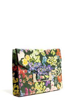 Floral Soft Envelope Clutch by Sophie Hulme