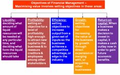 strategic role of financial management objectives of financial management - profitability, growth, efficiency, liquidity, solvency - short-term and. Setting Objectives, Financial Goals, Acting, Investing, Management, How To Plan, Learning, Business, Health
