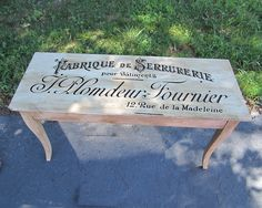 GFFabrique Vintage Label vinyl decal by MoreThanWordsVinyl on Etsy, $32.00---can do my own Diy table!! Love