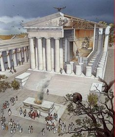 Partes de un templo griego