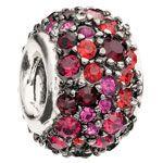 Chamilia Silver Bead (Charm) - Red and Black Swarovski Crystal Jewelry $70.00