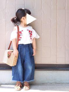 刺繍ブラウス♡色違い☺︎ 身長 94cm tops size110 昨日は3時のおやつ祭に参加するつ
