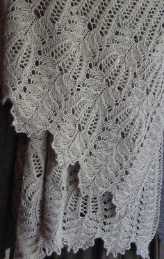 Beautiful Lace Knitting Stitch Pattern Chart. More Great Patterns Like This