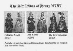 Lord Perry Pattern no.305 - The Six Wives of Henry VII ( Kathryn Howard