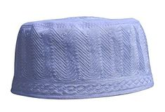 """Unique 3.5-inch double layer re-enforced intricately embroidered cotton kufi hat. Embroidery pattern design my differ with each size and may be different from pattern in photo. rom photo shown. Very limited quantity available.       Famous Words of Inspiration...""""What is..."""
