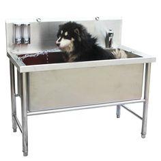 Stainless steel dog bath tub Pet cat dog bathing supplies beauty bath Teddy bathtub with bath box Stainless steel pet bathing pool Dog Bath Tub, Dog Bathroom, Bathtub Shower, Dog Station, Dog Washing Station, Outdoor Bathtub, Outdoor Dog, Cheap Bathtubs, Bathtub Sizes