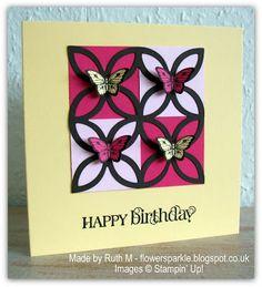 Flower Sparkle: Lattice & Butterflies Happy Birthday Card - Inkspirational Challenge #21