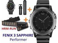 GARMIN FENIX 3 Sapphire Performer +Czujnik HRM RUN
