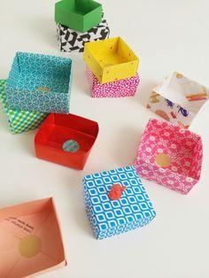 Easy origami boxes - www.wimketolsma.nl #origami #diy