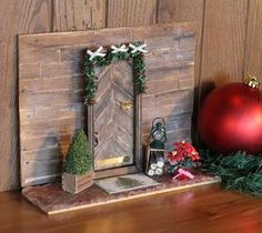 DIY Projects For Home Decorating: Holiday Elf Door