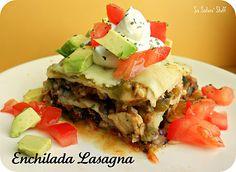 Chicken Enchilada Lasagna Recipe