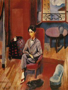 moise kisling portrait of Jean Cocteau 1916