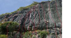 Here are some  of the approx lines of the 12 new climbs put up by visiting Italian climber Diego Depretto  i...