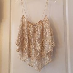 Urban outfitters lace glitter top Perfect for nightlife. only wore once Urban Outfitters Tops