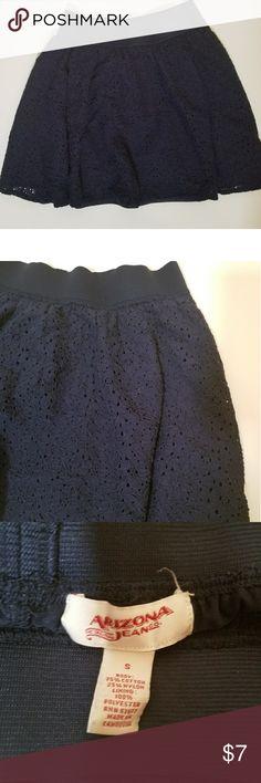 Arizona Jeans Co. skirt--lace/blue--Sz Small Arizona Jeans Co. skirt--lace/blue---Sz Small Arizona Jean Company Skirts Midi
