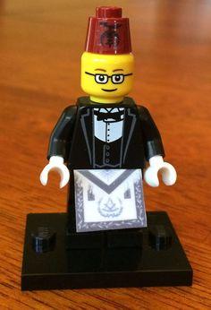 Lego Shriner Minifigure With Fez Freemason by High12Art on Etsy