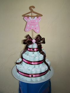 Pastel De Pañales Cigueña | Trabajos En Fomis | Pinterest | Diapers And  Crochet