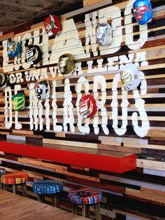 Typographic intervention in wood