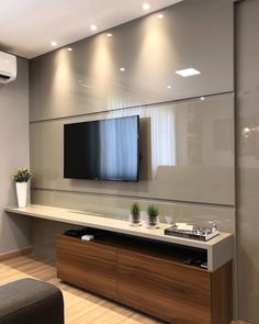 Living room tv wall decor bathroom 23 Ideas for 2019 Tv Unit Decor, Tv Wall Decor, Bathroom Wall Decor, Wall Tv, Bathroom Ideas, Living Room Interior, Home Interior Design, Living Room Decor, Apartment Interior