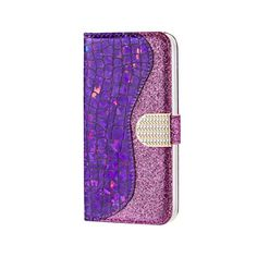 Glitter Diamond Buckle Laser Stitching Leather Wallet Phone Case for Samsung Galaxy inch) - Purple, Glitter PU Leather Phone Wallet with Diamond Buckle from Guuds Diamond Glitter, Purple Glitter, Galaxy Note 9, Samsung Galaxy Note 8, Girl Phone Cases, Iphone Cases, Leather Case, Leather Wallet, Pu Leather