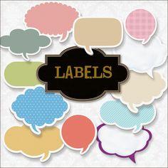 Friendly Scrap: New Freebies Labels Kit