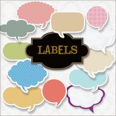 free Labels Kit - from Eva at Friendly Scrap