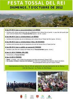 cartel de la fiesta de tossal del rei el 7 de octubre en La Tinença de Benifassá, Castellon