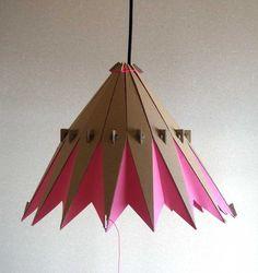 Adjustable Cardboard Lampshade