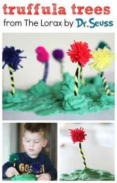 Lorax Craft: Truffula Trees Dr. #Seuss by @Jenae {I Can Teach My Child!}