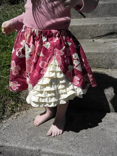 simply homemade: A sneaky peeky ruffle skirt with tutorial