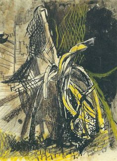 Graham Sutherland, City of London: Twisted Girders English Artists, British Artists, A Level Art, Modern Artists, London City, Medium Art, Printmaking, Landscape Paintings, Art Reference