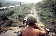 Vietnam War April 9, 1968.  Same type of tank Dad rode in.