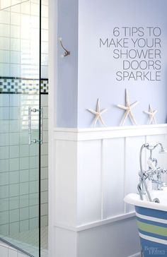 How to Clean Shower Doors You take a shower and you get clean. Your shower door? Read on for our top tips on how to clean glass shower doors -- and keep them clean. Household Cleaning Tips, House Cleaning Tips, Deep Cleaning, Spring Cleaning, Cleaning Hacks, Cleaning Items, Clean Shower Doors, Glass Shower Doors, Glass Doors