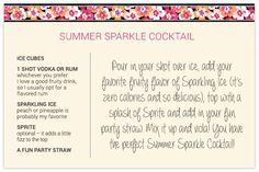 Summer Sparkle Cocktail from @kateireneblue.