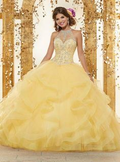 22ac087a632 Beaded Illusion Quinceanera Dress by Mori Lee Vizcaya 89197