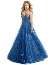 dark blue with silver sparkles long prom dress | Dark blue ballgown with jeweled bodice and sequined tulle skirt from ...