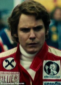 Daniel Bruhl as Niki Lauda - Rush. Brilliantly portrayed. He was an asshole but you can't help but like him. Lauda is badass because even though he was horribly burned in a fiery crash he took 4th in his first race back!