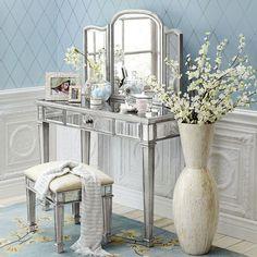 From Bob S Furniture Hayworth Mirror Vanity Silver