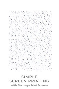 Use this spotty pattern as a background for lino printing or layering screen prints. The screen is ready to print, you just need to add ink. Quick, easy screen printing that's ideal for beginners. Frame Sizes, Printing On Fabric, Layering, Cocoa, Screen Printing, Sewing Projects, Powder, Polka Dots, Ink