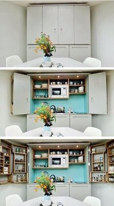 mini kitchens disguised as furniture | @meccinteriors | design bites