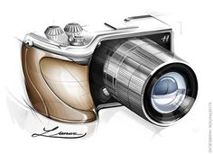 Hasselblad Lunar mirrorless camera delayed till the summer - Photo Rumors Camera Sketches, Cool Sketches, Sketch Inspiration, Design Inspiration, Sony Digital Camera, Sony Camera, Copic Drawings, Logos Retro, Sketching Techniques