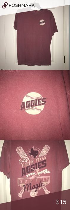 Texas A&M comfort colors shirt Medium maroon comfort colors shirt. Aggie baseball. Bought at A&M warehouse in CSTAT. Texas A&M Tops