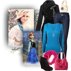 """Winter - Anna - Dreamcast Demi Lovato - Disney's Frozen"" by rubytyra on Polyvore"