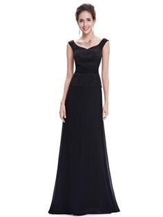 Off Shoulder Black Lace Evening Gown - Ever-Pretty US