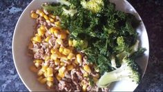 ♡clean eating♡ *turkey mince *brown rice *sweetcorn *kale *broccoli